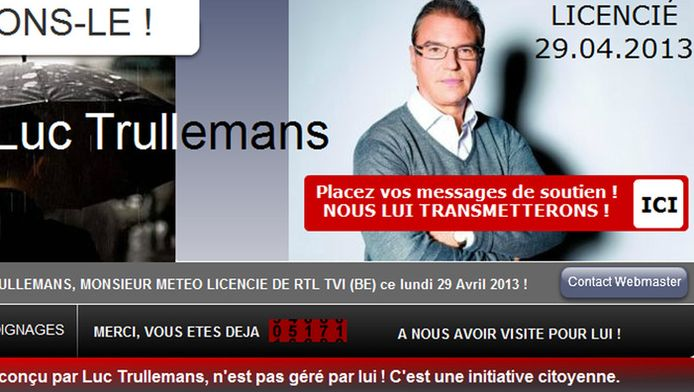 Un site internet (www.soutenons-le.be), destiné à récolter les messages de soutien à l'ex-collaborateur de RTL, a également été lancé par un citoyen en vue d'éviter toute récupération politique.