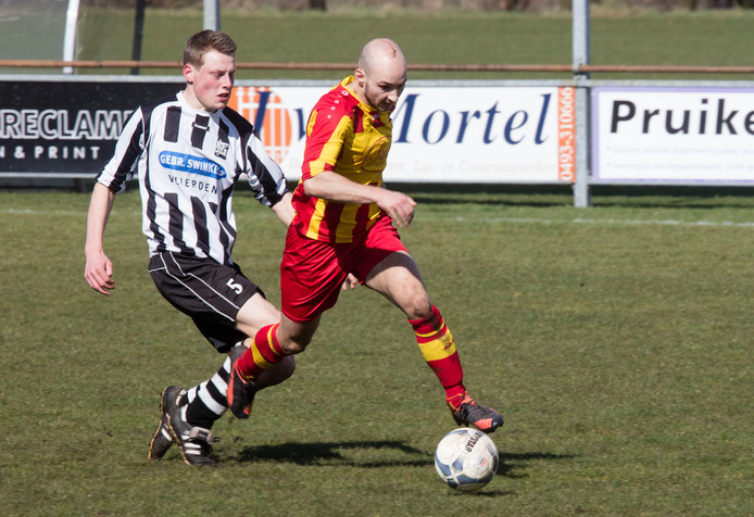 ONDO aanvaller Bart Loomans was vandaag belangrijk in de met 2-1 gewonnen wedstrijd.