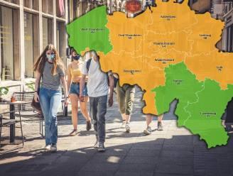 IN KAART. Al drie provincies kleuren groen op de coronakaart. Bekijk hier de situatie in uw regio