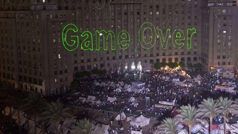 Protesten vorig jaar op het Tahrirplein in Caïro. Beeld AFP