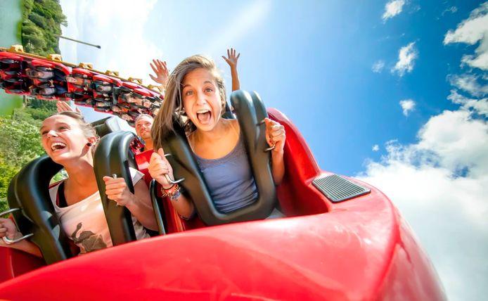 De rollercoaster Cobra in Walibi België.
