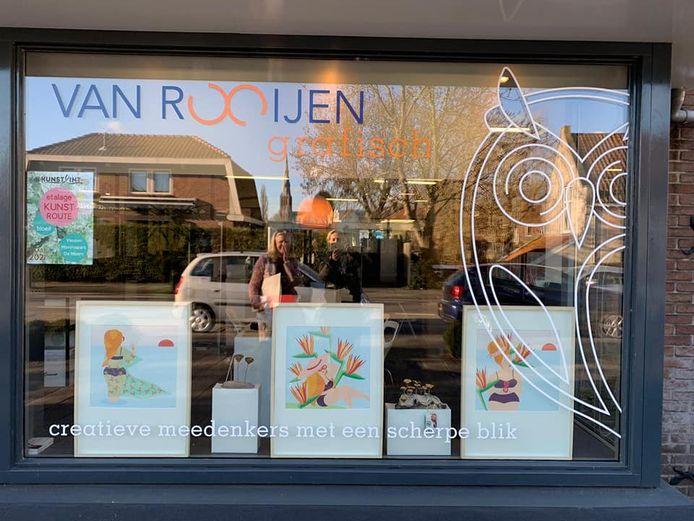 Drukkerij Van Rooijen Grafisch is één van de winkelpanden die nu als expositieruimte dient.