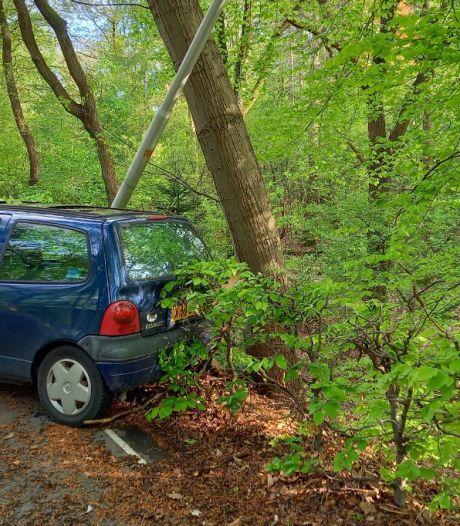 Automobilist botst na 'capriolen' tegen lantaarnpaal en gaat ervandoor