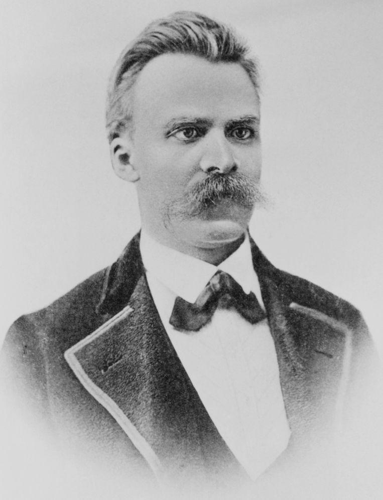 Portret Friedrich Nietzsche Beeld null
