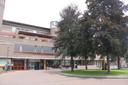 Het stadhuis in Amersfoort, met de ingang naar de publiekshal