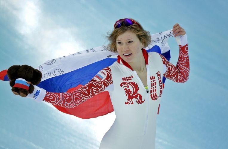 Onder meer de Russische schaatsster Olga Fatkoelina vecht haar uitsluiting aan. Beeld AP
