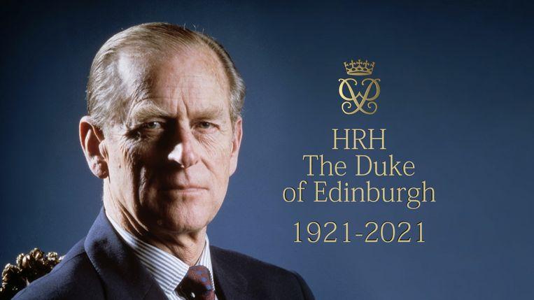 Aankondiging van de uitzending over prins Philip. Beeld BBC