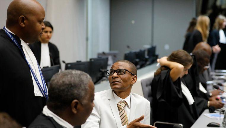Narcisse Arido uit de Centraal Afrikaanse Republiek in de rechtszaal van het Internationaal Strafhof (ICC). Beeld anp