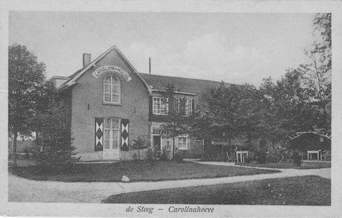 De Carolinahoeve op een ansichtkaart uit 1925.