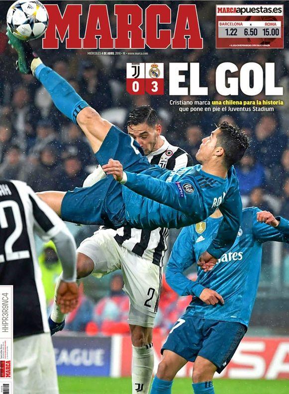 """""""De goal"""", schreef Marca op de voorpagina."""