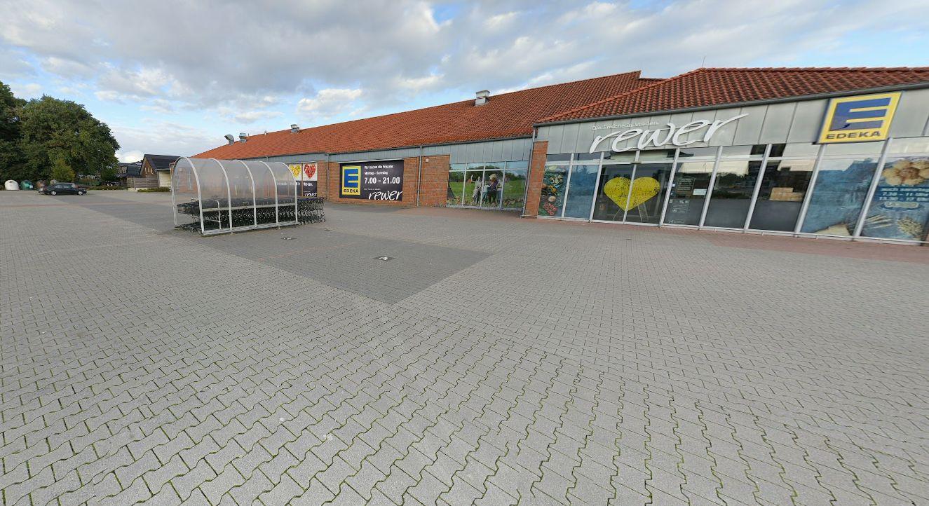 De parkeerplaats van Edeka in Vreden.