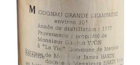 Un cognac distillé sous Louis XVI atteint des records aux enchères