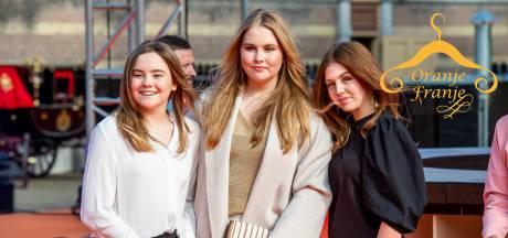 Prinsessen dragen hippe tienerkleding bij Streamers: metallic trui en rockjasje