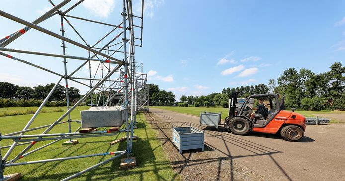 De opbouw van Paaspop 2021 in Schijndel, afgelopen week.