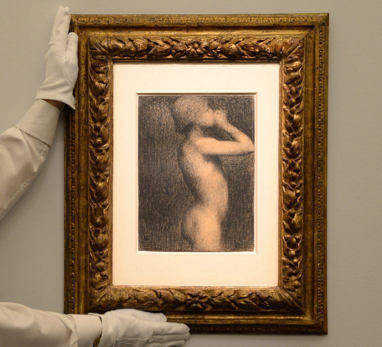 'Etude pour use baignade, Asnieres' (1883) van Georges Seurat Beeld epa