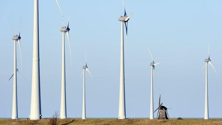 In de komende tijd bekijkt het stadsdeel precies hoeveel windturbines aan de westkant van Noord moeten komen en hoe groot die moeten worden. Archief © ANP Beeld