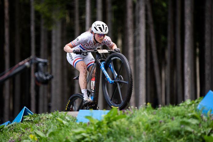 Anne Terpstra verdiende de achtste plaats in de WB-wedstrijd van Leogang.