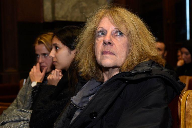 Martine Beckers op het proces van Fabien Neretse Beeld Photo News