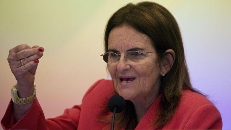 Maria Das Gracas Foster, de Braziliaanse topvrouw van de Braziliaanse oliemaatschappij Petrobas. Beeld AFP