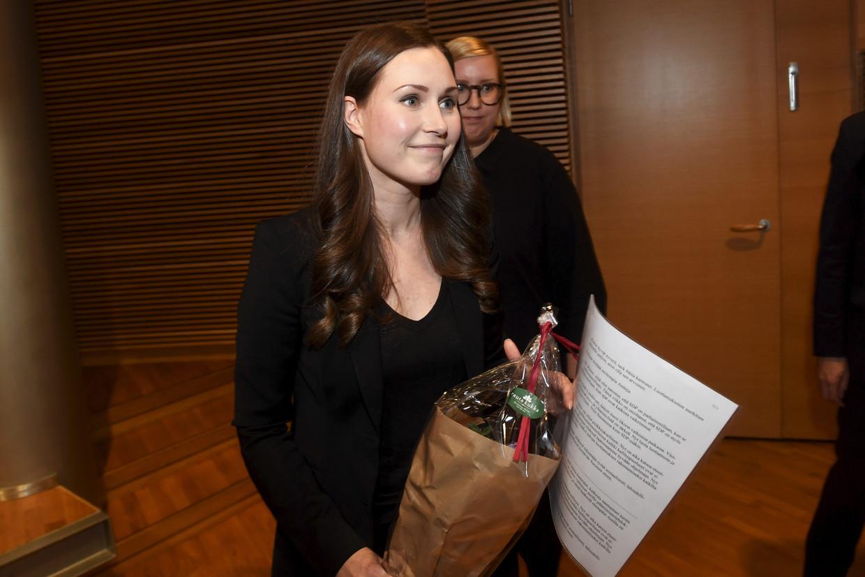 Sanna Marin (34) werd in juni voor het eerst minister, nu wordt ze premier. Beeld AFP