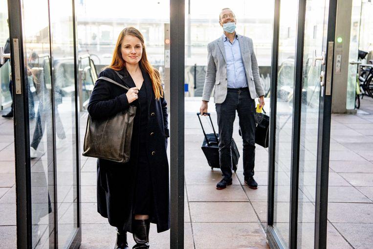 Journalist Ans Boersma en haar advocaat Marq Wijngaarden.  Beeld ANP