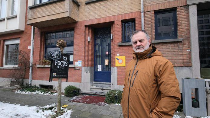 Zaakvoerder Jan Van Baelen, bij driesterrenhotel Focus