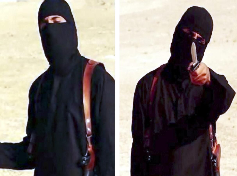 IS-beul Jihadi John in een van de beruchte onthoofdingsvideo's.