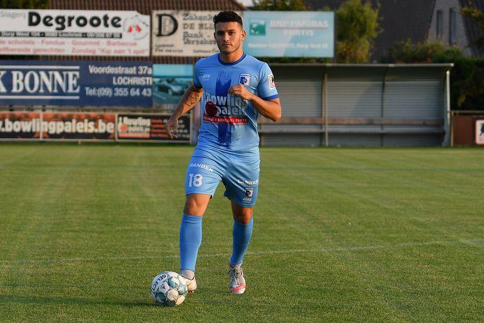 """Yassin Badi bij zijn huidige club SK Lochristi: """"Voor sommige verplaatsingen weet je al op voorhand dat je je ergens mag aan verwachten."""""""