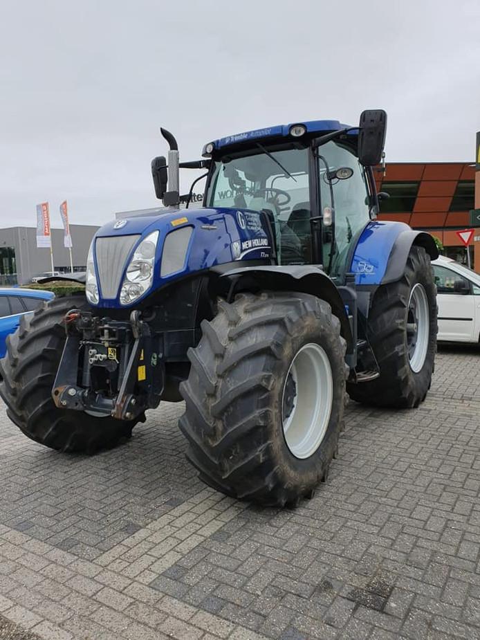 De teruggevonden tractor.
