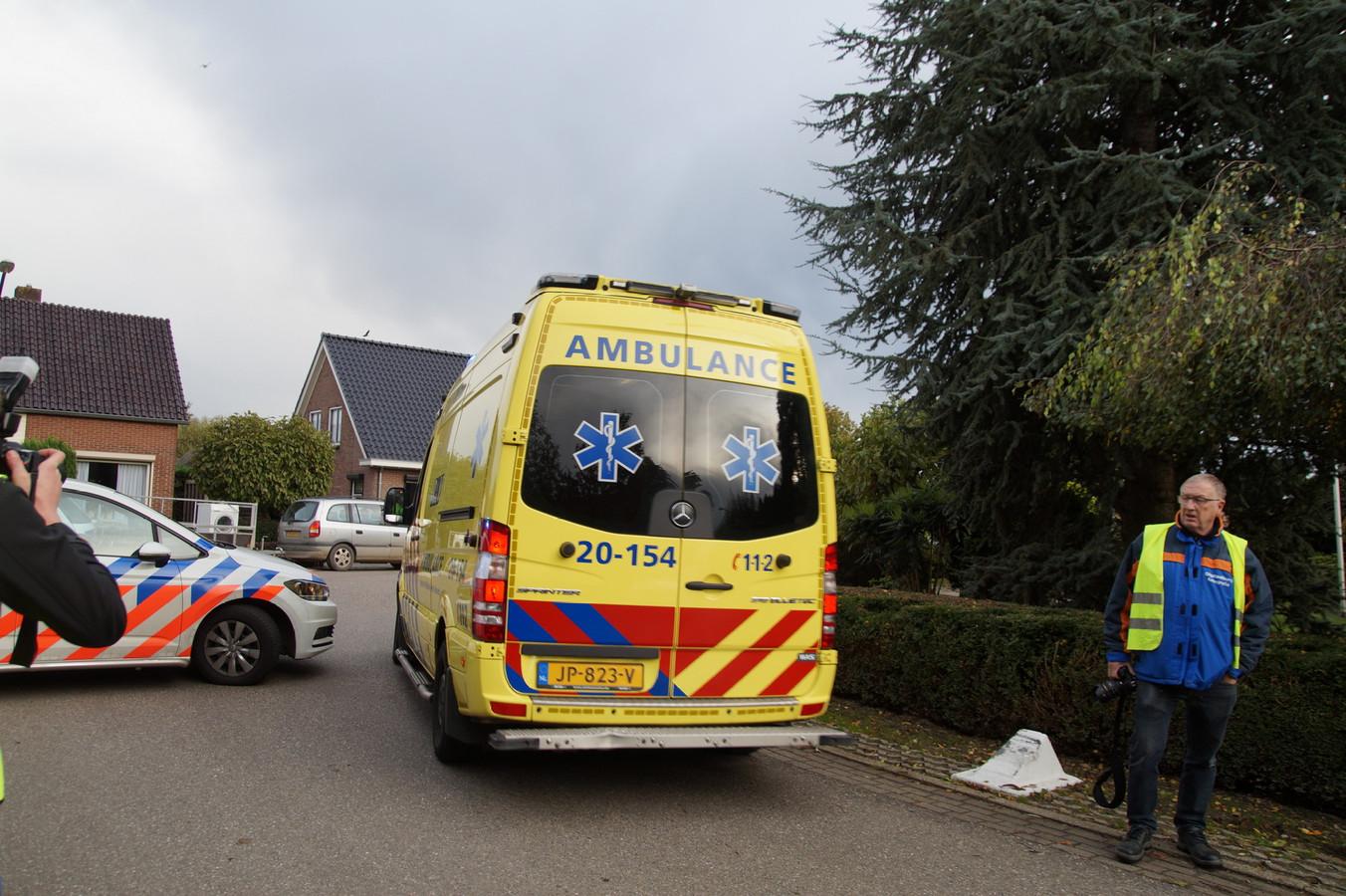 De gewonde man werd in de Wielstraat gevonden