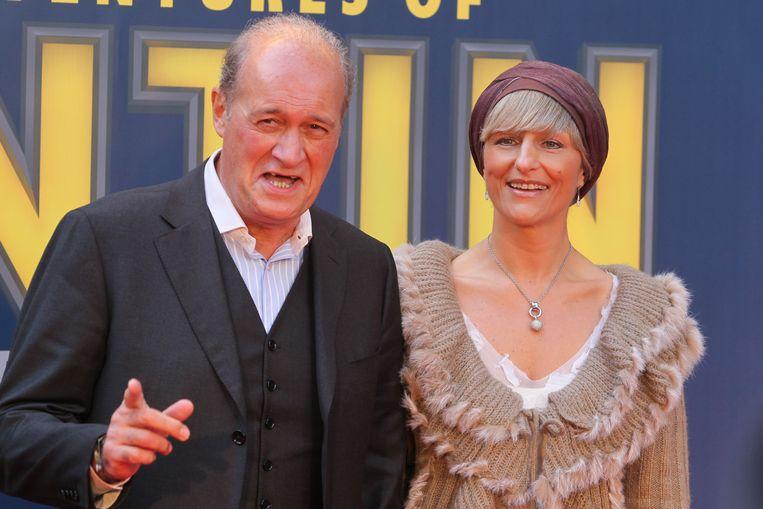 Jacques Vermeire en Muriel De Neve bij de première van de Kuifjefilm in 2011. Beeld PN