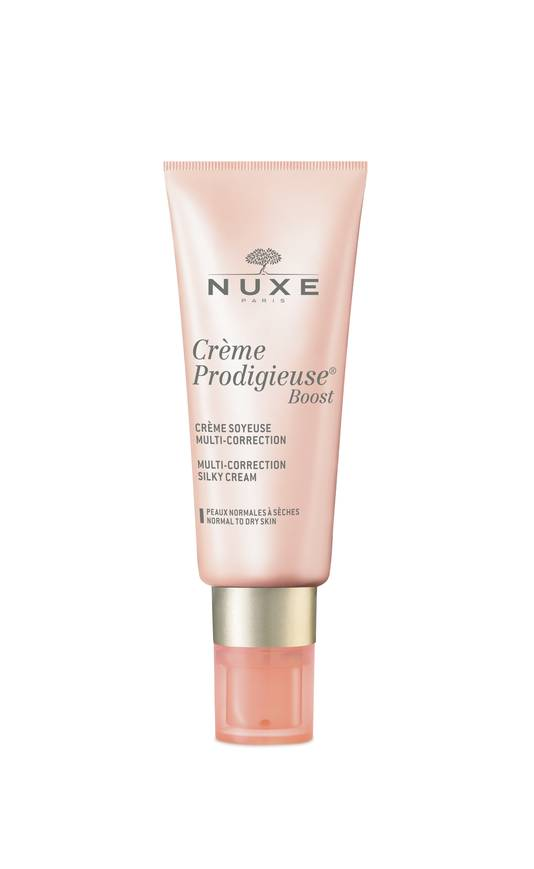 La gamme Crème Prodigieuse Boost de Nuxe - Crème soyeuse Multi-Correction - Prix conseillé: 23 euros.