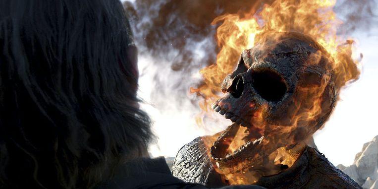 Beeld uit 'Ghost Rider: Spirit of Vengeance' van Mark Neveldine en Brian Taylor. Beeld