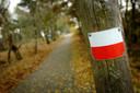 NS wandelingen zijn herkenbaar aan roodwitte markering.