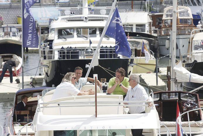 Yacht Vision organiseerde in de hoogtijdagen een eigen botenshow in de Bataviahaven in Lelystad