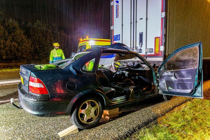 Ongeval op de A27 / A58 bij Bavel.