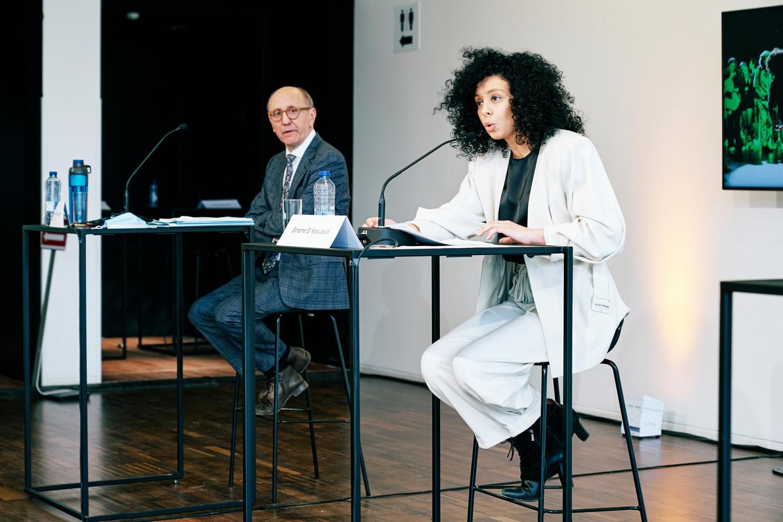 Advocaat Johan Vande Lanotte noemde de problemen in de boekhouding van Sihame El Kaouakibi op een persconferentie in februari nog slordigheden. Beeld Joris Casaer