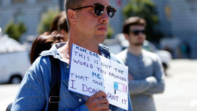 Ook in San Francisco wordt meegerouwd voor de slachtoffers in Nice.