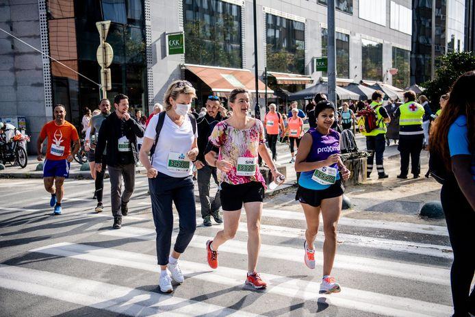 La Reine Mathilde a participé aux 20 km  de Bruxelles.