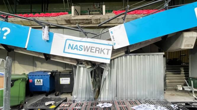 Ingenieurs onderzoeken instorting uitvak in De Goffert, NEC moet mogelijk uitwijken naar ander stadion