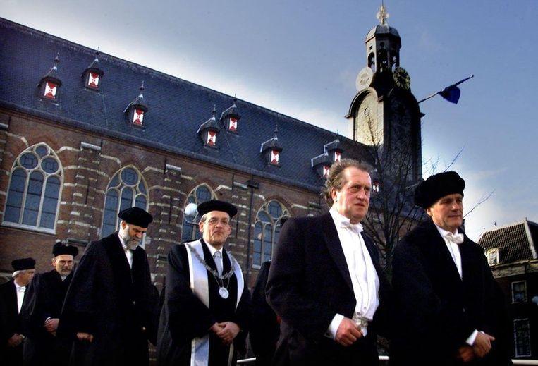 Pieterskerk, Leiden, bij de toekenning van het eredoctoraat van de Leidse universiteit in 2000. Beeld ANP