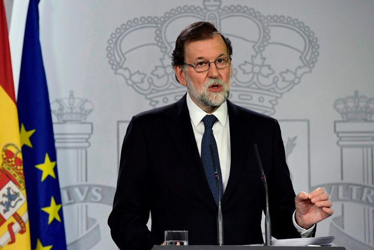 Voormalig Spaans premier Mariano Rajoy. 'Ze vroegen me op de man af de regering en Rajoy te steunen.' Beeld AFP