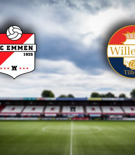 Subtopper Willem II op bezoek bij FC Emmen