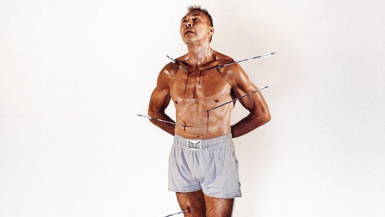 Freddy De Kerpel, zoals Ali in 1968 op de cover van Esquire stond. Beeld Jef Boes