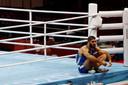 Mourad Aliev a fait une grève sur le bord du ring après sa disqualification en quart de finale.