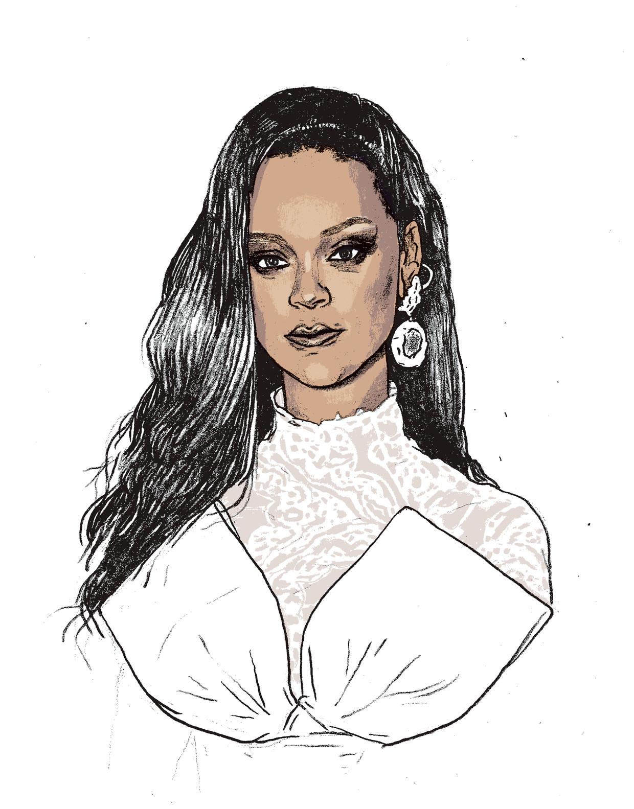 Rihanna gaat Fenty Maison leiden. De naam is een knipoog naar haar volledige naam Robyn Rihanna Fenty. Beeld Gijs Kast