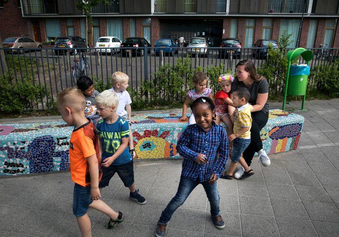 Kinderen op basisschool het Slingertouw in Eindhoven.
