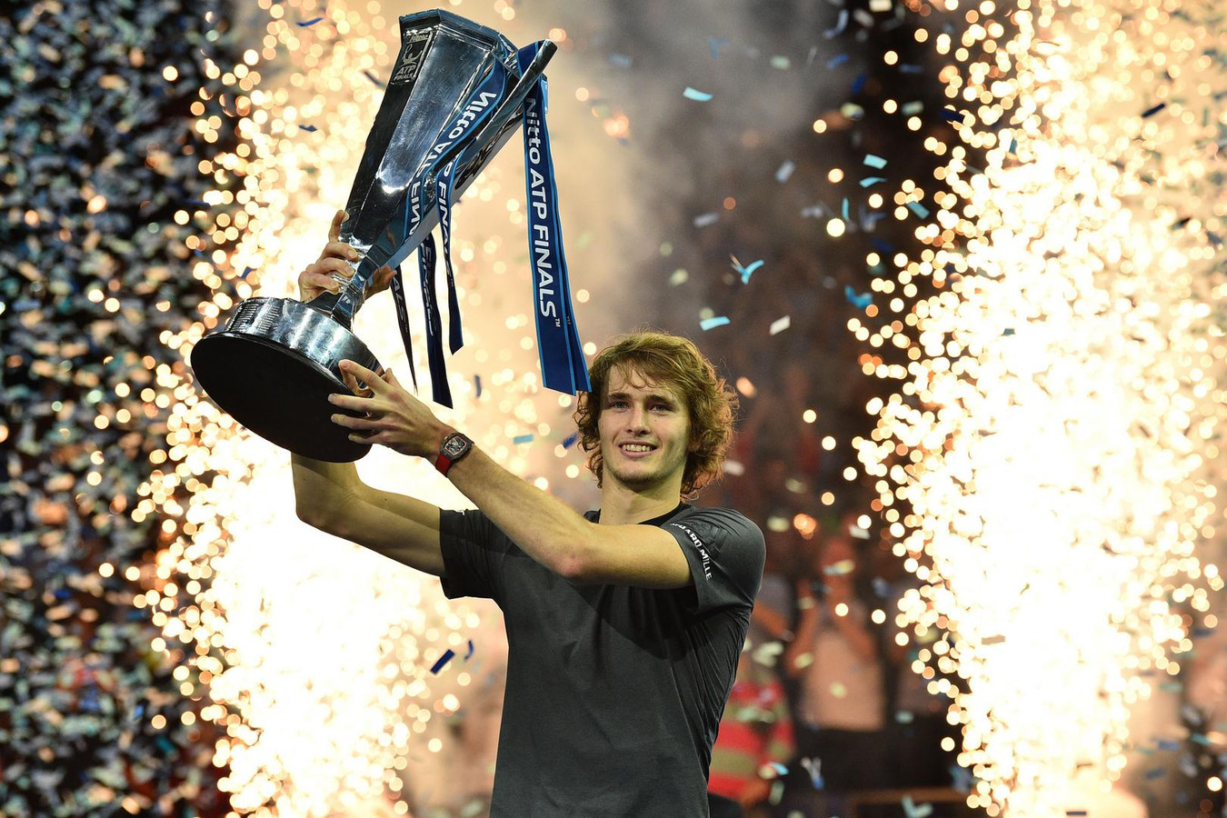 Alexander Zverev klopte Novak Djokovic in de finale van de Masters.