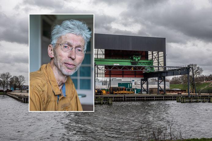 De hoek van de Katwolderhaven waar de biomassacentrale moet komen. Stikstofstrijder Johan Vollenbroek zal ertegen procederen tot het niet meer kan.
