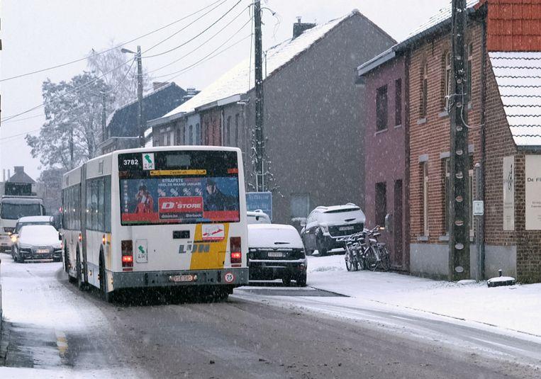 De bussen van De Lijn ondervonden geen grote problemen.
